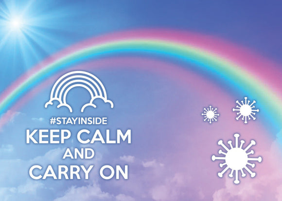 Photo #stayinside - carry on - top quality approved by www.postcardsmarket.com specialists