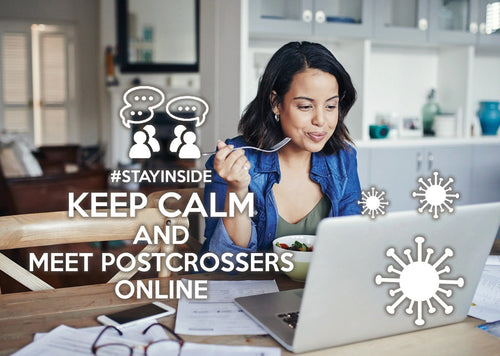 Photo #stayinside - meet postcrossers online (bundle x 5 pieces) - top quality approved by www.postcardsmarket.com specialists