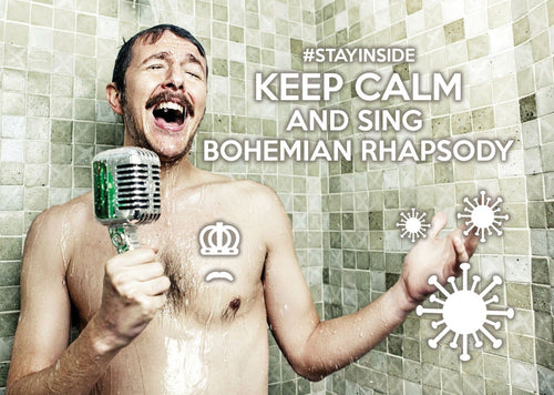 Photo #stayinside - sing Bohemian Rhapsody (bundle x 5 pieces) - top quality approved by www.postcardsmarket.com specialists