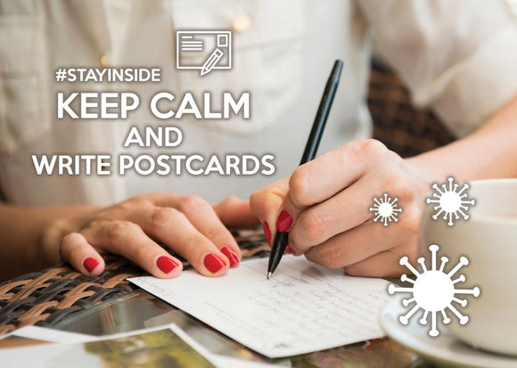 Photo #stayinside - Write postcards - Postcards Market
