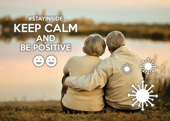 Photo #stayinside - Be positive about tomorrow! - top quality approved by www.postcardsmarket.com specialists