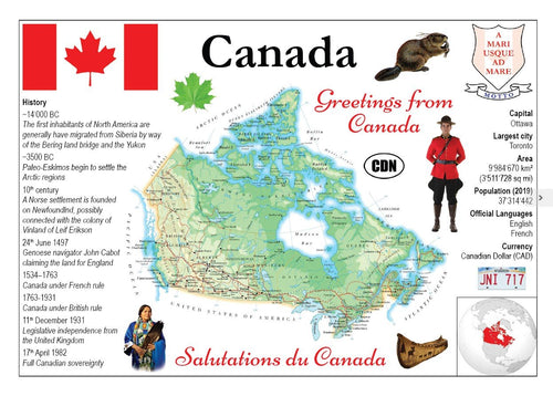 North America | Canada MOTW - top quality approved by www.postcardsmarket.com specialists