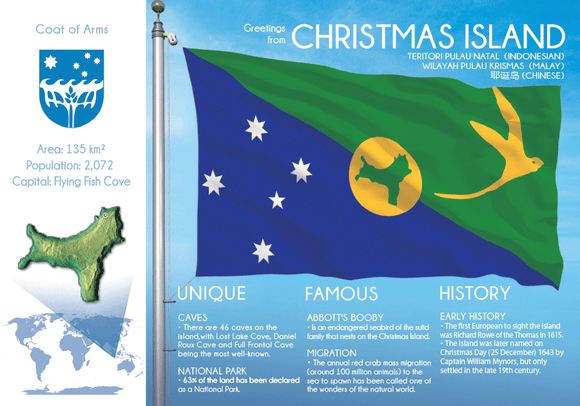 Oceania | CHRISTMAS ISLAND - FW - top quality approved by www.postcardsmarket.com specialists