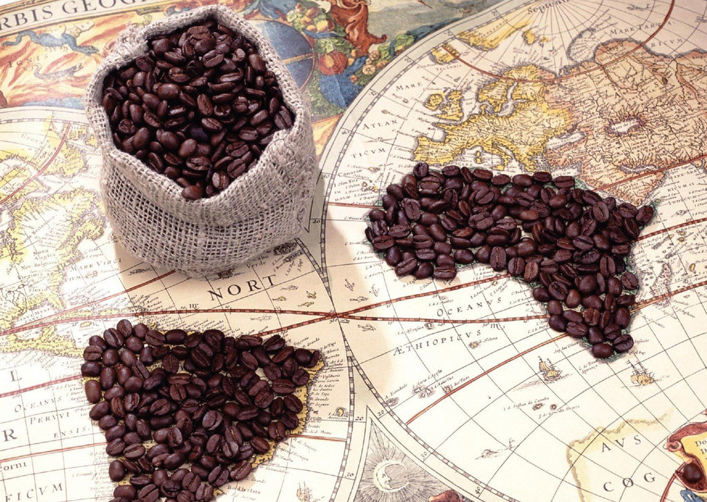 Photo: Coffee Beans (bundle x 5 pieces) - top quality approved by www.postcardsmarket.com specialists