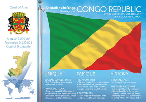 AFRICA | CONGO REPUBLIC - FW (country No. 115) - top quality approved by www.postcardsmarket.com specialists