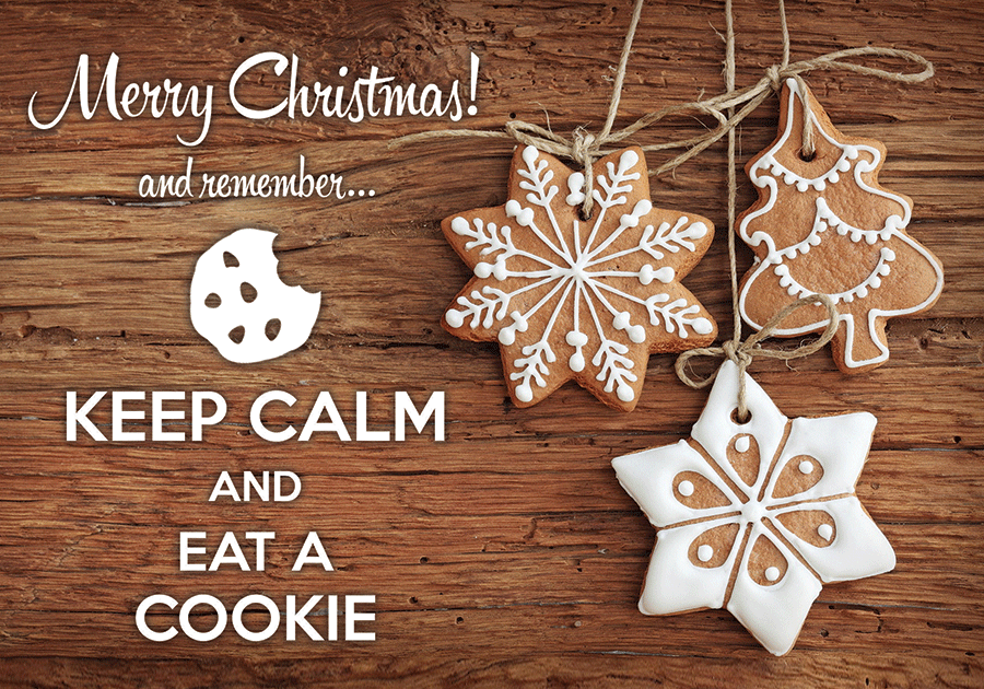 Keep calm and eat a cookie - www.postcardsmarket.com