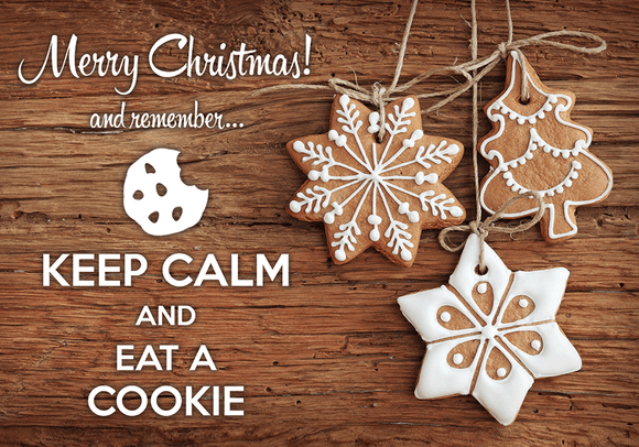 Photo: Keep calm and eat a cookie - top quality approved by www.postcardsmarket.com specialists