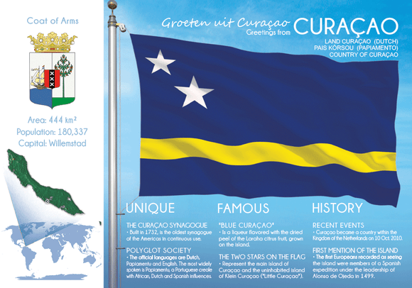 South America | CURACAO - FW - top quality approved by www.postcardsmarket.com specialists