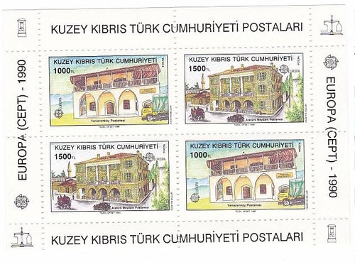 *Stamps | Kuzey Kibris Turk Cumhuriyeti 1990 Europa CEPT - Souvenir Sheet - Turkish Cyprus MNH Stamps - top quality Stamps approved by www.postcardsmarket.com specialists