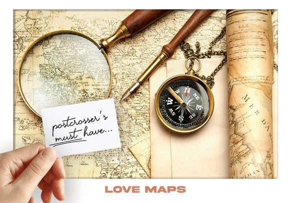 Photo: Postcrosser's Must Have - Love Maps (bundle x 5 pieces) - top quality approved by www.postcardsmarket.com specialists