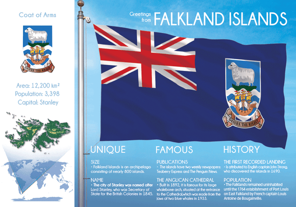 South America | FALKLAND ISLANDS - FW - top quality approved by www.postcardsmarket.com specialists