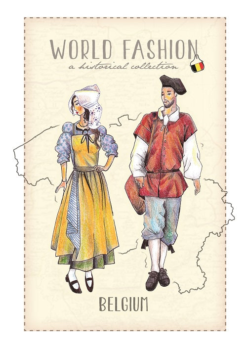 World Fashion Historical Collection - Belgium (bundle x 5 pieces) - top quality approved by Postcards Market specialists
