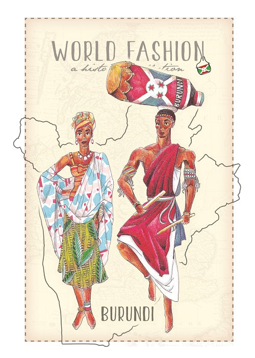 World Fashion Historical Collection - Burundi (bundle x 5 pieces) - top quality approved by Postcards Market specialists