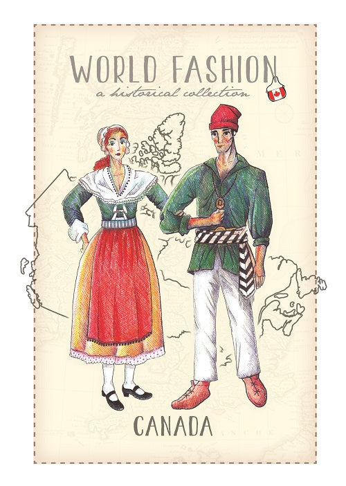 World Fashion Historical Collection - Canada_French style (bundle x 5 pieces) - top quality approved by Postcards Market specialists