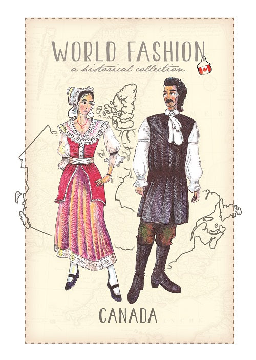 World Fashion Historical Collection - Canada_English style (bundle x 5 pieces) - top quality approved by Postcards Market specialists