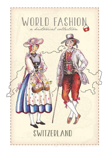 World Fashion Historical Collection - Switzerland (bundle x 5 pieces) - top quality approved by Postcards Market specialists