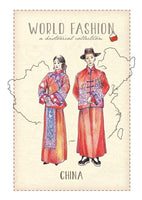 World Fashion Historical Collection - China (bundle x 5 pieces) - top quality approved by Postcards Market specialists