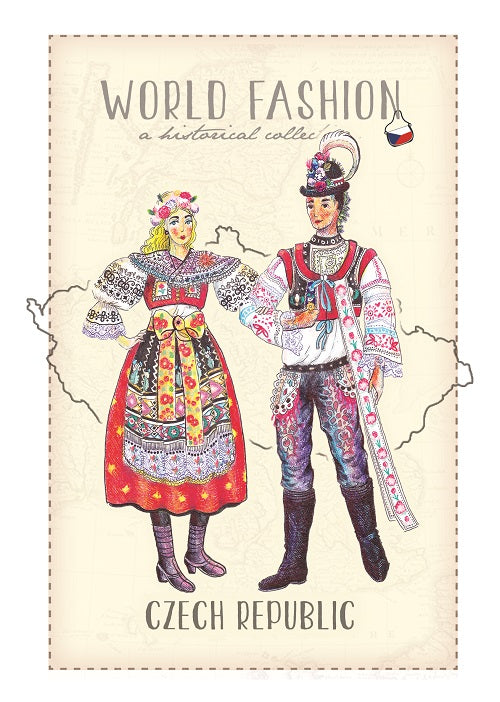 World Fashion Historical Collection - Czechia (bundle x 5 pieces) - top quality approved by Postcards Market specialists