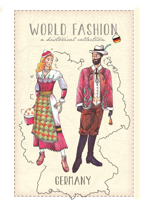 World Fashion Historical Collection - Germany2 (bundle x 5 pieces) - top quality approved by Postcards Market specialists