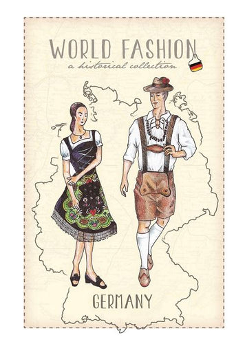 World Fashion Historical Collection - Germany (bundle x 5 pieces) - top quality approved by Postcards Market specialists