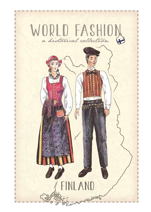 World Fashion Historical Collection - Finland - top quality approved by Postcards Market specialists