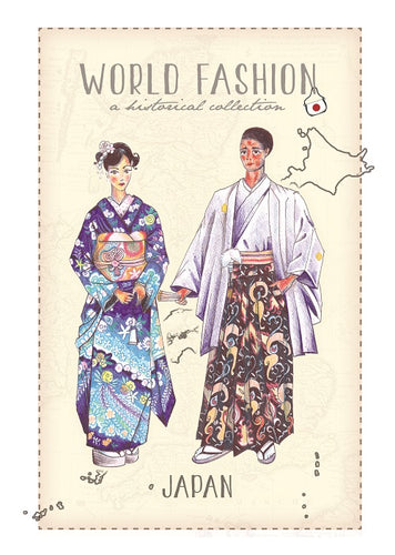 World Fashion Historical Collection - Japan (bundle x 5 pieces) - top quality approved by Postcards Market specialists