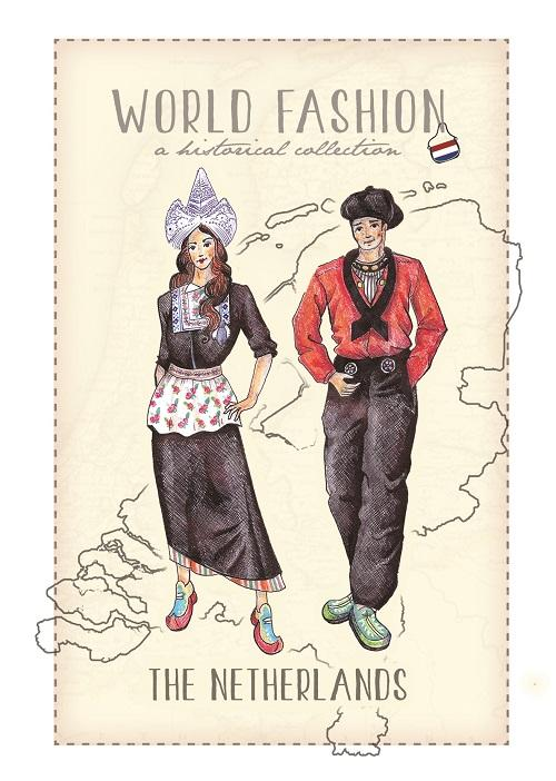 World Fashion Historical Collection - The Netherlands - top quality approved by Postcards Market specialists