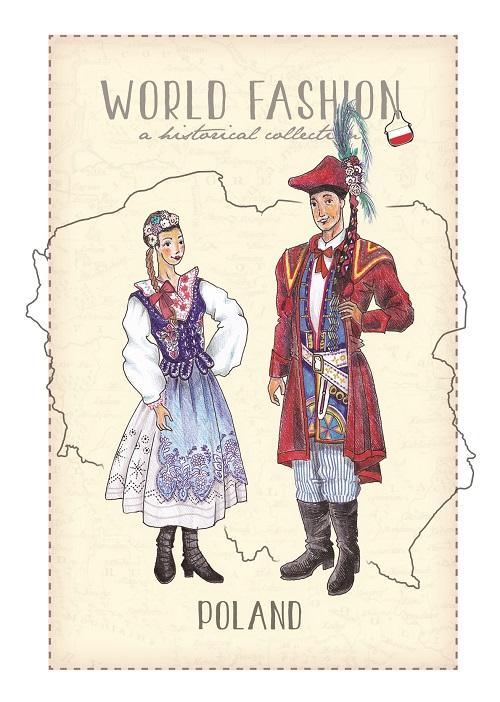 World Fashion Historical Collection - Poland (bundle x 5 pieces) - top quality approved by Postcards Market specialists