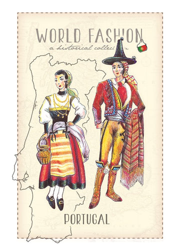 World Fashion Historical Collection - Portugal (bundle x 5 pieces) - top quality approved by Postcards Market specialists