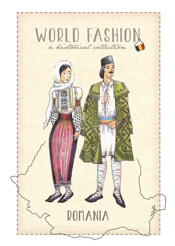 World Fashion Historical Collection - Romania (bundle x 5 pieces) - top quality approved by Postcards Market specialists