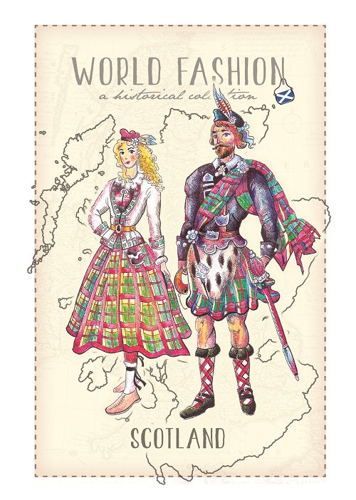 World Fashion Historical Collection - Scotland (bundle x 5 pieces) - top quality approved by Postcards Market specialists