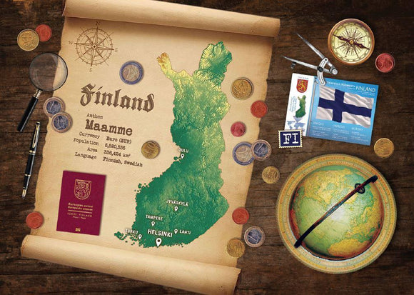 Finland Map Postcard World Explorer PWE - Postcards Market