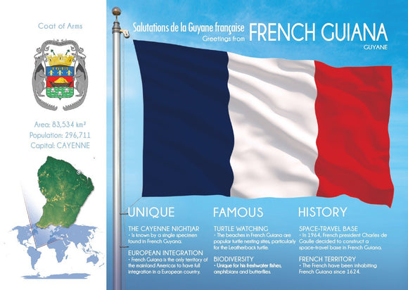 South America | FRENCH GUIANA - FW - top quality approved by www.postcardsmarket.com specialists