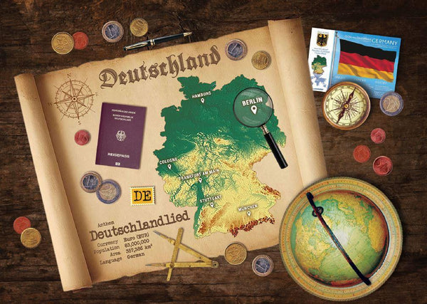 Germany Map Postcard World Explorer PWE