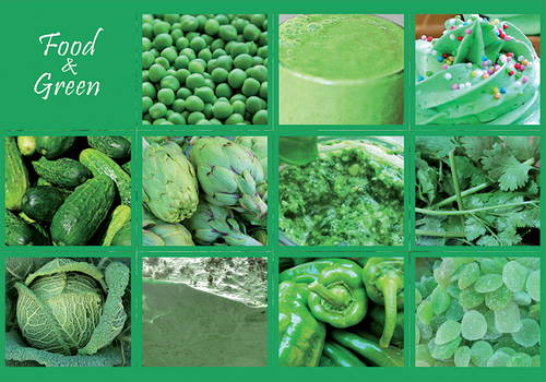 Photo: Food & Green (bundle x 5 pieces) - top quality approved by www.postcardsmarket.com specialists