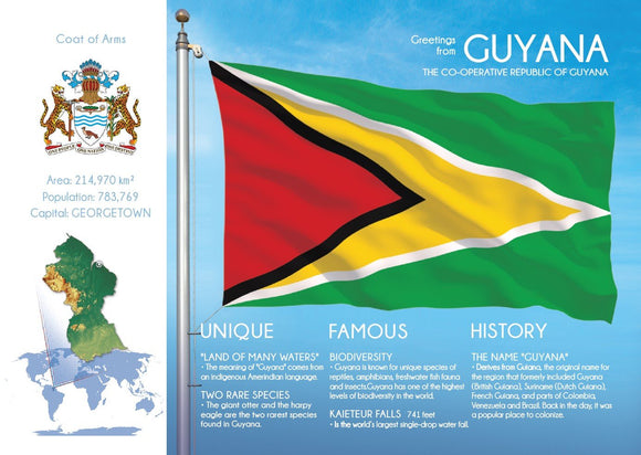 South America | GUYANA - FW (country No. 160) - top quality approved by www.postcardsmarket.com specialists