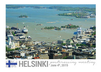 Photo meeting: Helsinki Harbour View Card - top quality approved by www.postcardsmarket.com specialists