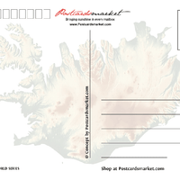 Europe | ICELAND - FW (Country No. 172) - top quality approved by www.postcardsmarket.com specialists