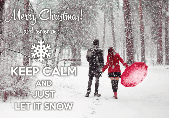 Photo: Keep calm and just let it snow (bundle x 5 pieces) - top quality approved by www.postcardsmarket.com specialists