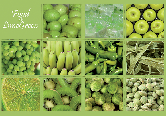 Photo: Food & Limegreen (bundle x 5 pieces) - top quality approved by www.postcardsmarket.com specialists