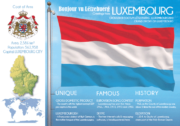 LUXEMBOURG - FW - Postcards Market