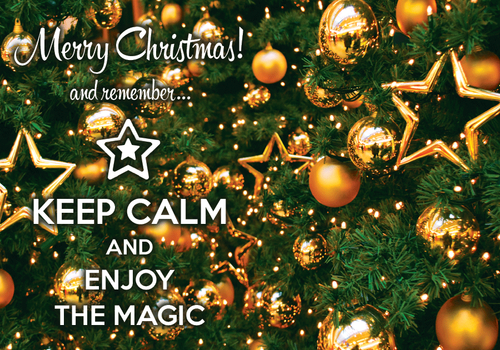 Photo: Keep calm and enjoy the magic (bundle x 5 pieces) - top quality approved by www.postcardsmarket.com specialists