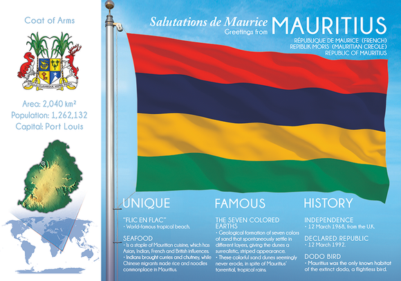 AFRICA | MAURITIUS - FW (country No. 154) - top quality approved by www.postcardsmarket.com specialists