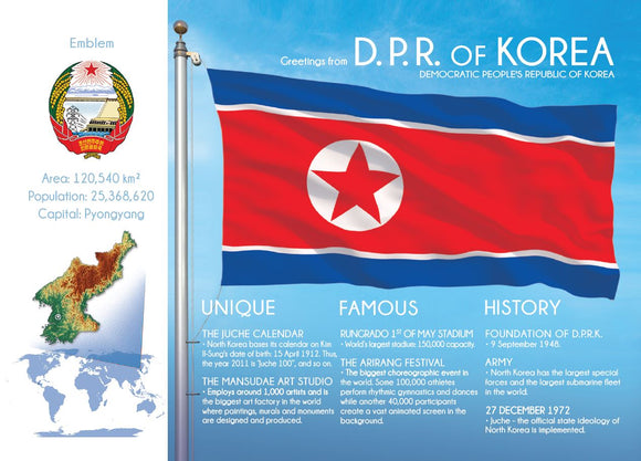 Asia | KOREA DPR (North Korea) - FW (country No. 54) - top quality approved by www.postcardsmarket.com specialists