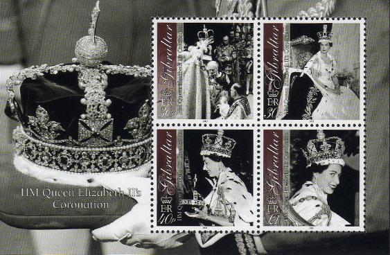 @2003 Coronation of HM Queen Elizabeth II - Gibraltar stamps - top quality approved by www.postcardsmarket.com specialists