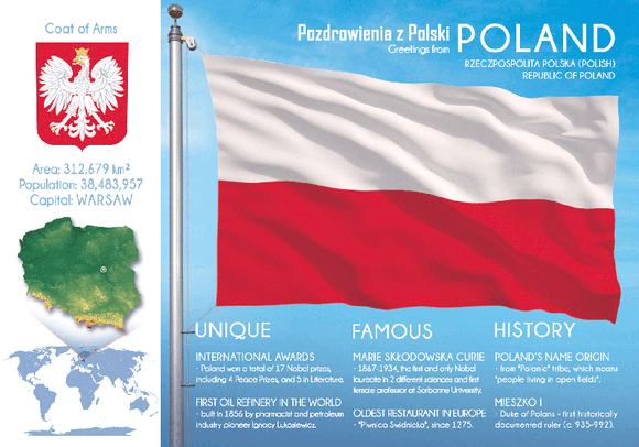 Europe | POLAND - FW (country No. 38) - top quality approved by www.postcardsmarket.com specialists