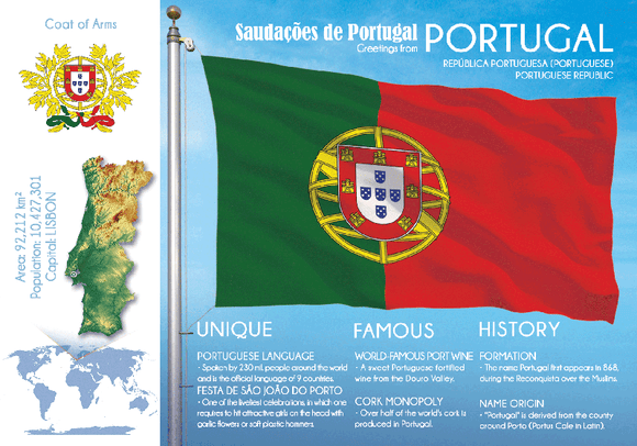 Europe | PORTUGAL - FW (country No. 88) - top quality approved by www.postcardsmarket.com specialists