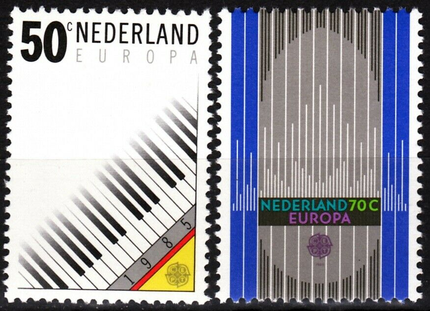 Stamps - 1985 Netherlands Europa (Cept) Music - Bundle of 50 stamps (MNH) - top quality approved by www.postcardsmarket.com specialists