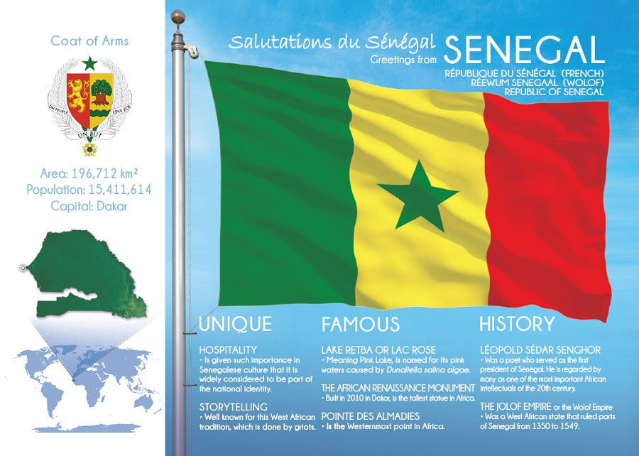 AFRICA | SENEGAL - FW (country No. 69) - top quality approved by www.postcardsmarket.com specialists