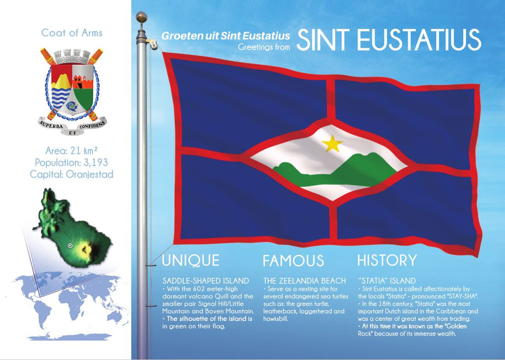 North America | SINT EUSTATIUS - FW - top quality approved by www.postcardsmarket.com specialists